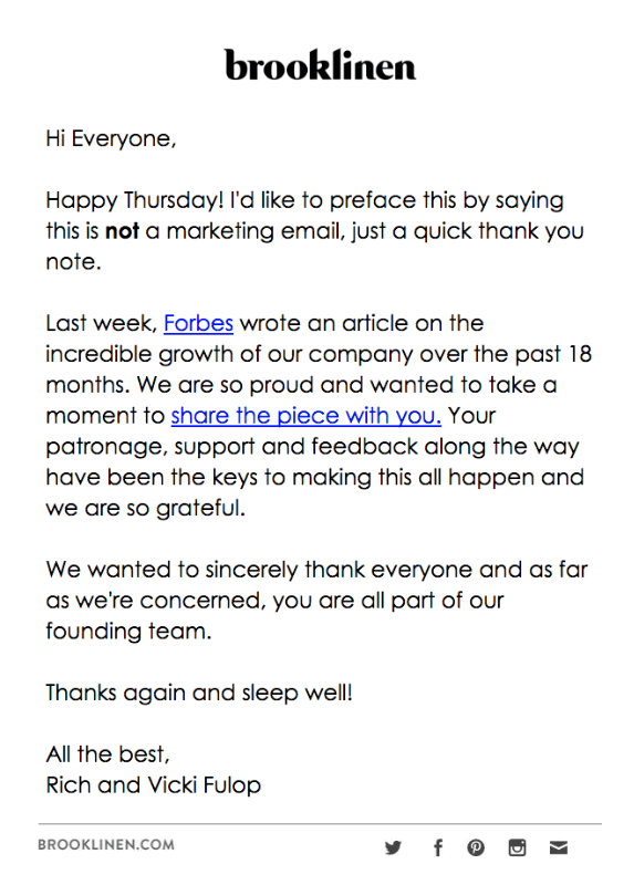 Thank You Letter Email Subject from esputnik.com