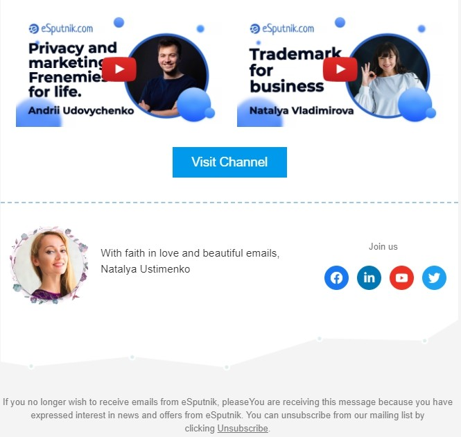 Email footer examples