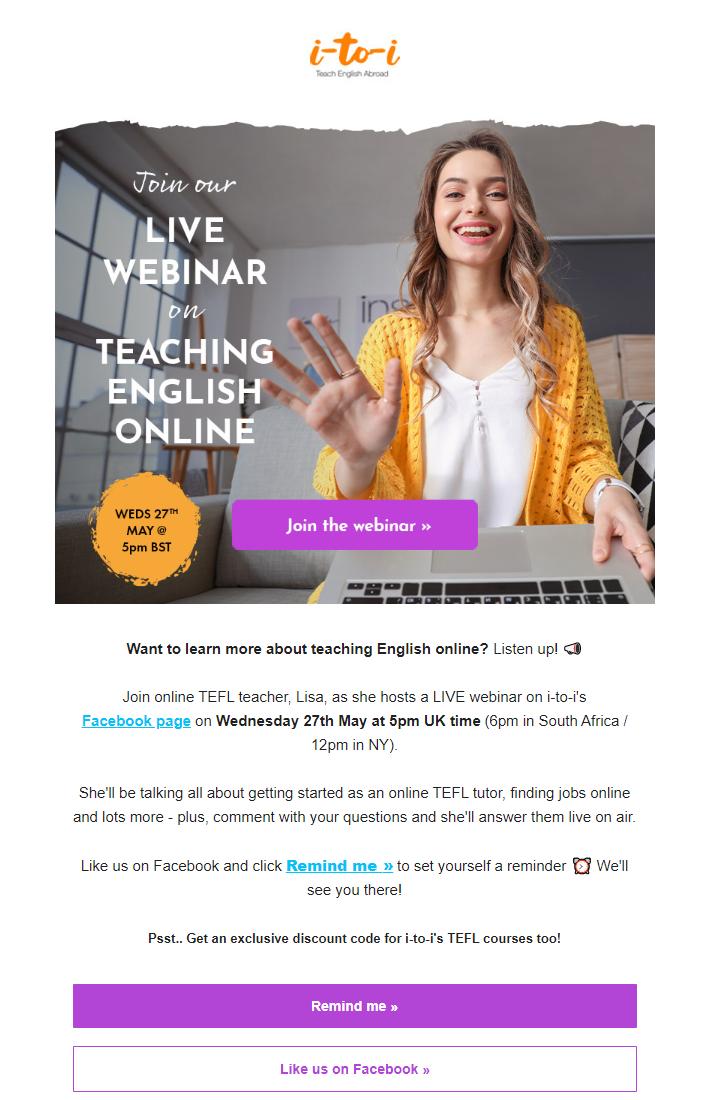 Best webinar invitation examples