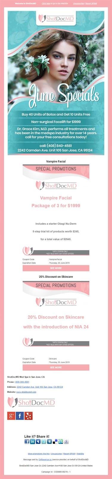 Email newsletter by ShoDocMD