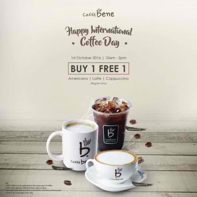 Special offer for International Coffee Day