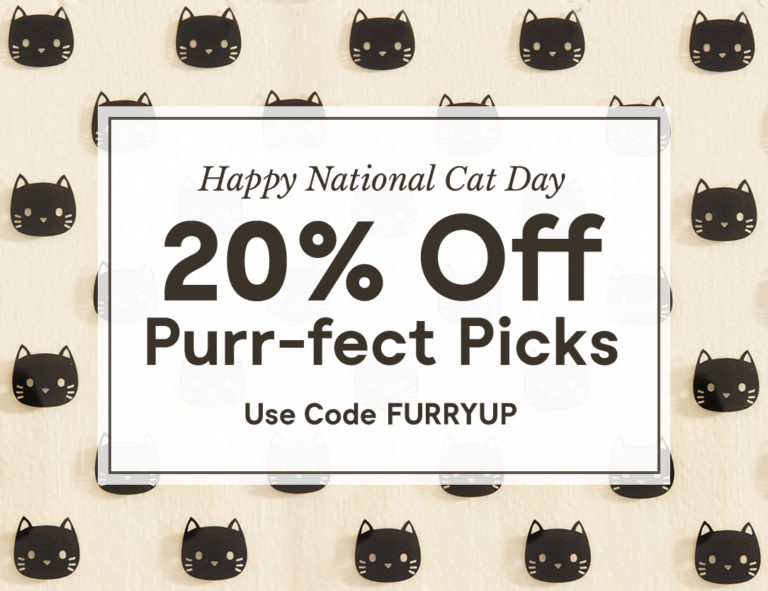 Special promo code for National Cat Day