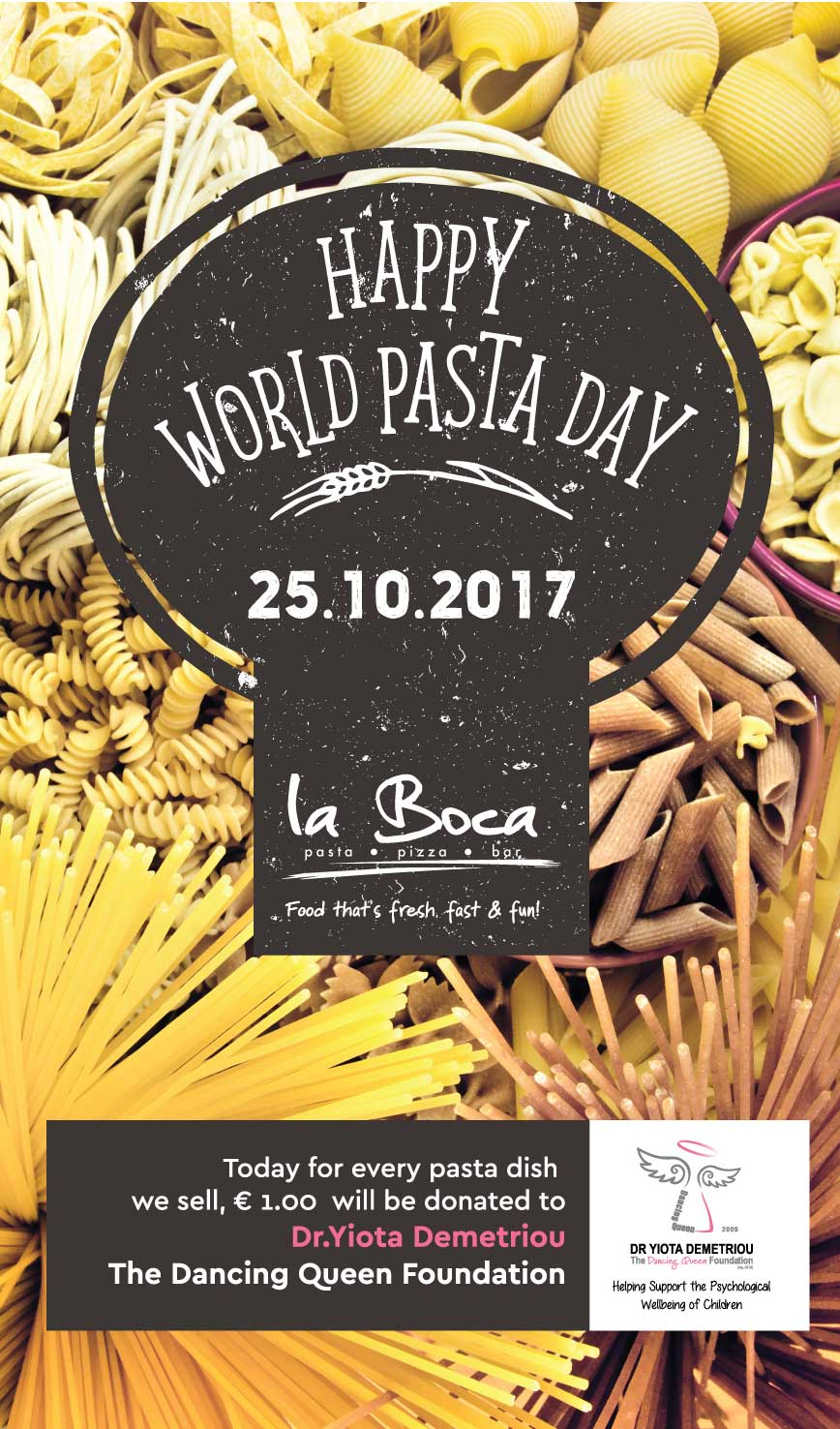 Special campaign for National Pasta Day