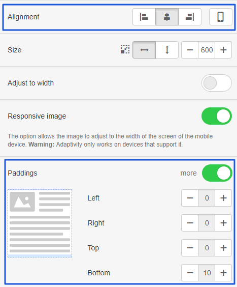 Adjust different elements for visual optimization
