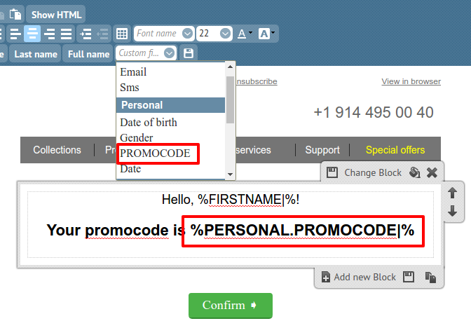 promo code variable