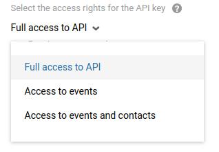 Full access to API