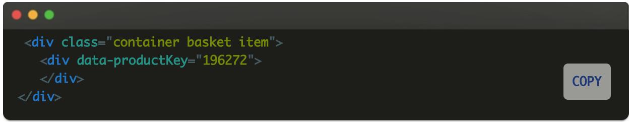 Добавление productKey скрытым элементом