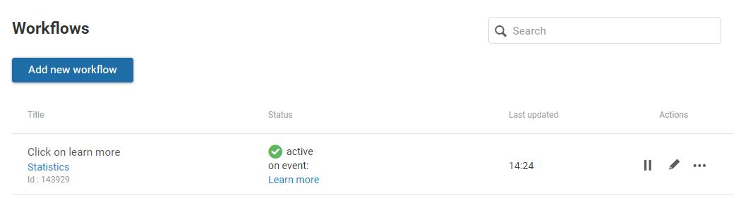Workflow status
