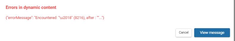 Message error