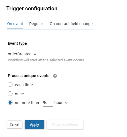 Trigger confirmation